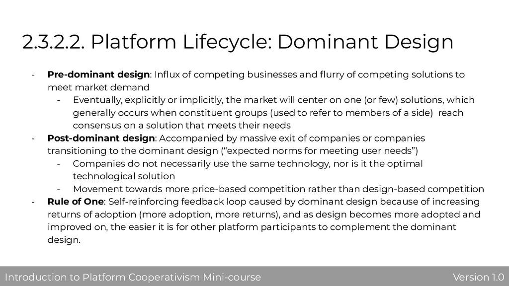 2.3.2.2. Platform Lifecycle: Dominant Design - ...