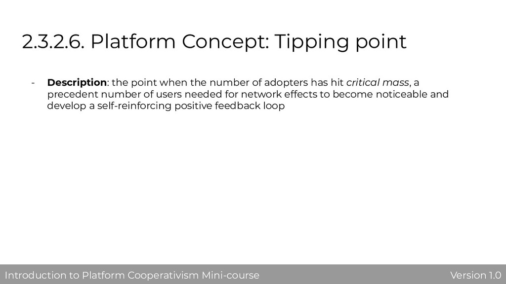 2.3.2.6. Platform Concept: Tipping point - Desc...