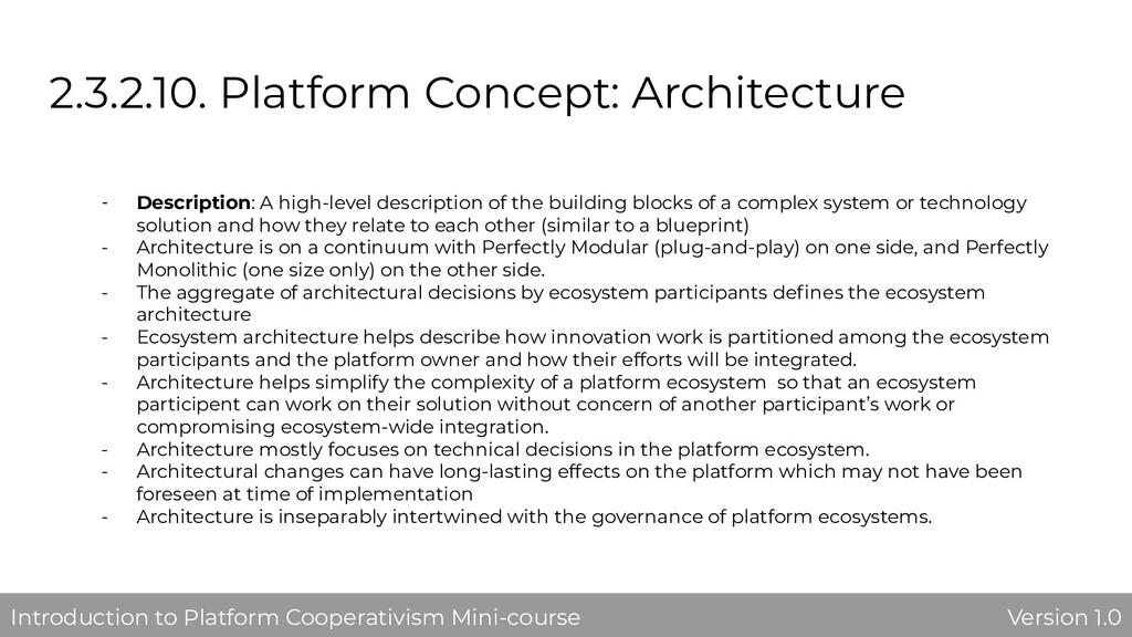 2.3.2.10. Platform Concept: Architecture - Desc...