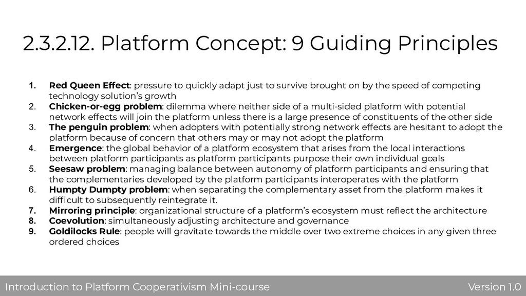 2.3.2.12. Platform Concept: 9 Guiding Principle...