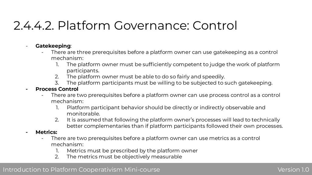 2.4.4.2. Platform Governance: Control - Gatekee...