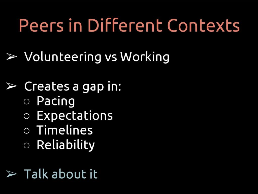 ➢ Volunteering vs Working ➢ Creates a gap in: ○...