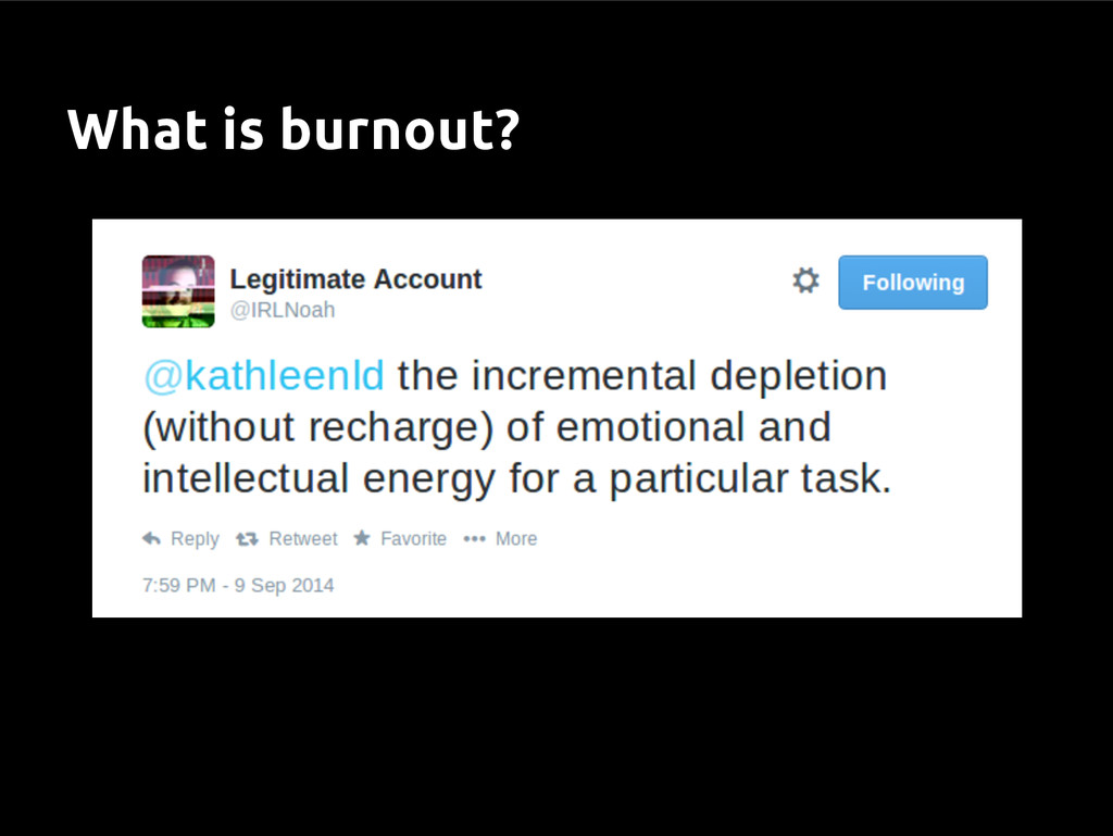 What is burnout?