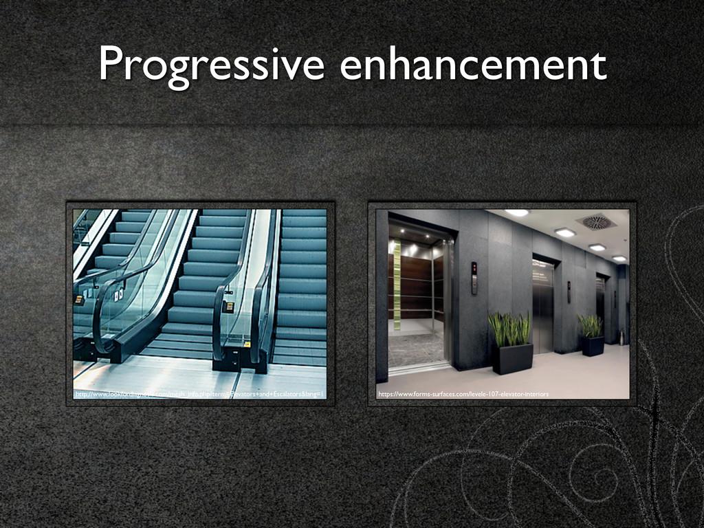 Progressive enhancement http://www.lookfordiagn...