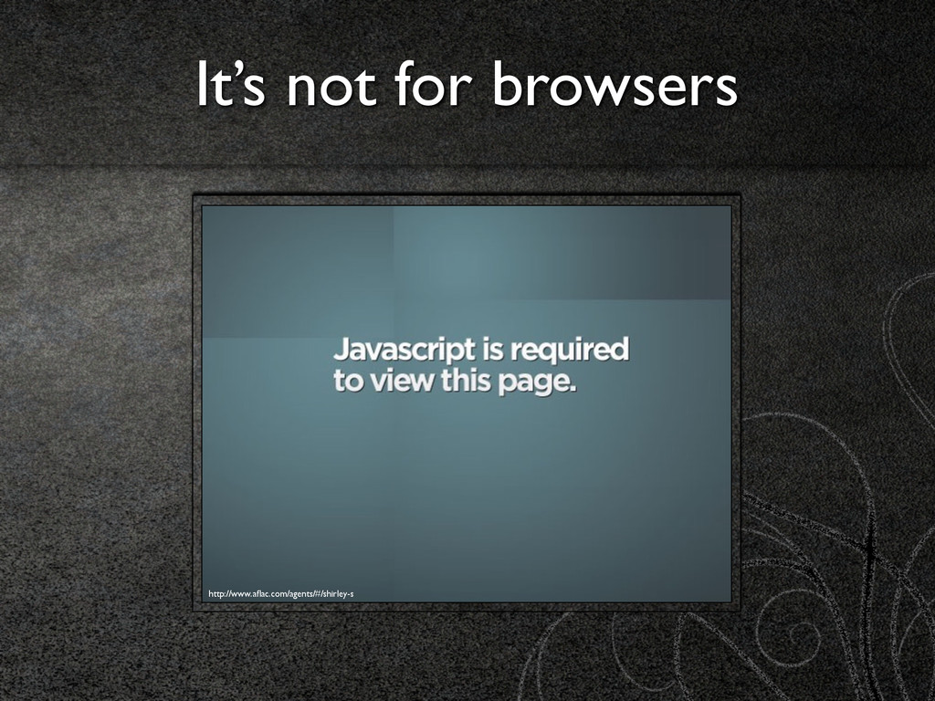 It's not for browsers http://www.aflac.com/agent...
