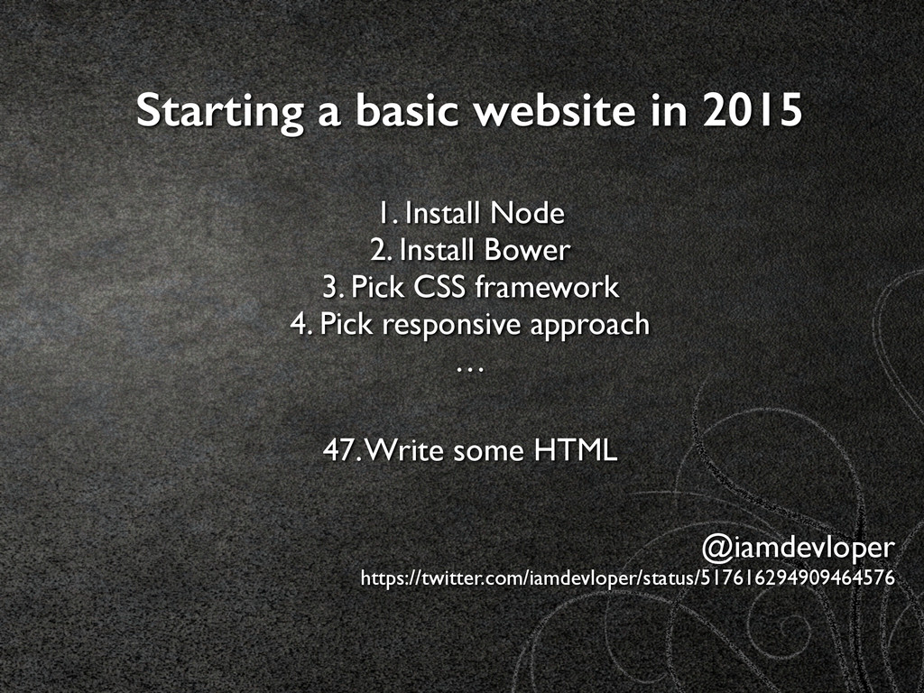 Starting a basic website in 2015 1. Install No...