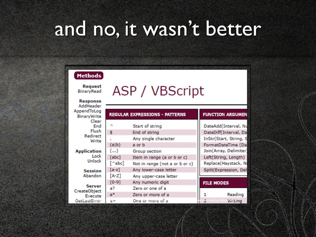 and no, it wasn't better http://www.webdesigner...