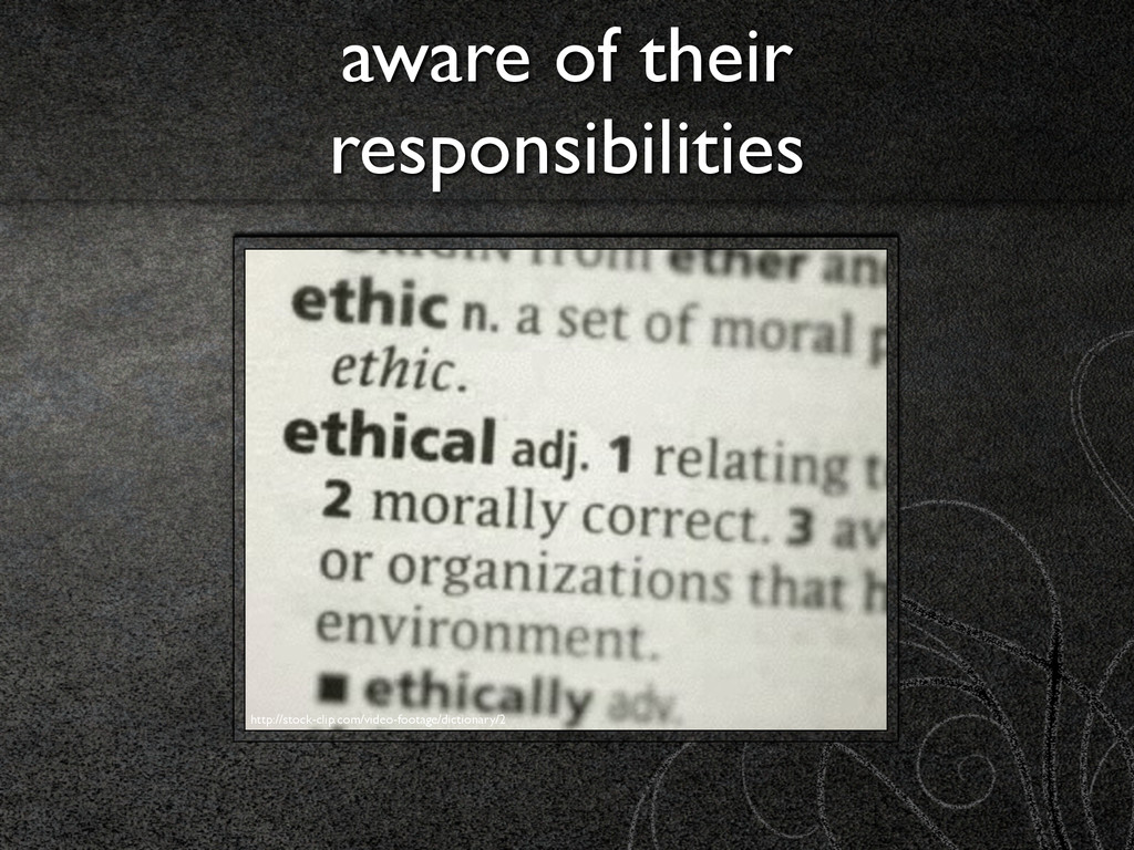 aware of their responsibilities http://stock-cl...