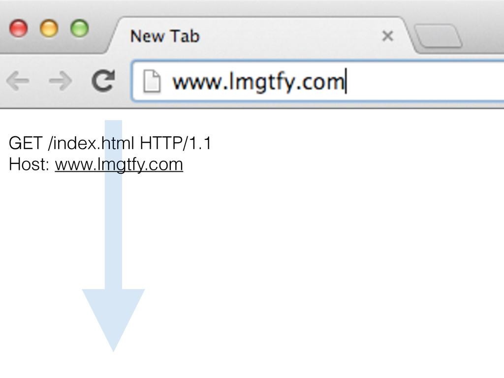 GET /index.html HTTP/1.1 Host: www.lmgtfy.com