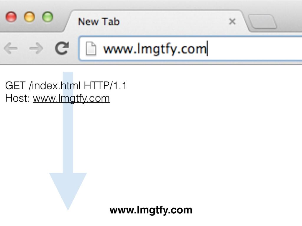 GET /index.html HTTP/1.1 Host: www.lmgtfy.com w...