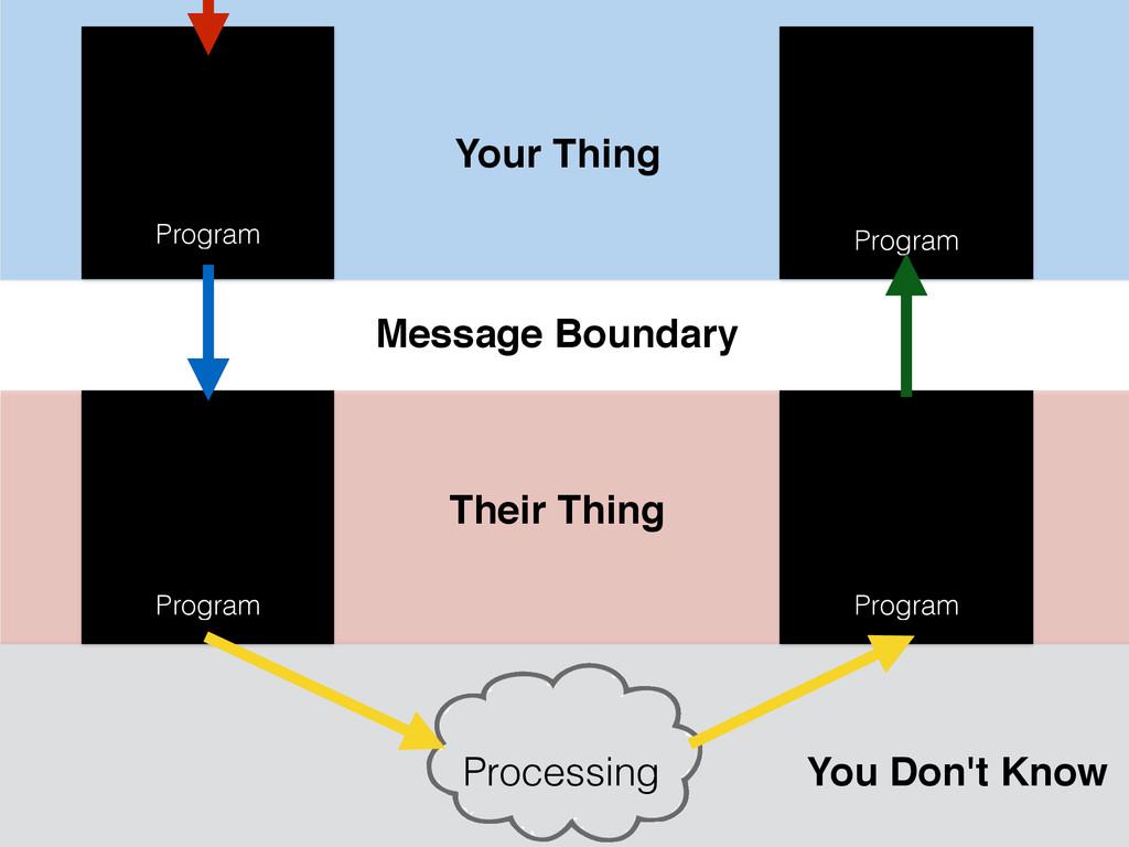 Program Processing Program Program Program Your...