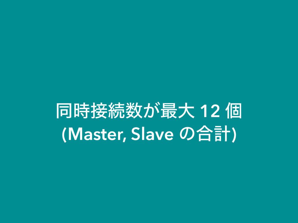 ಉଓ͕࠷େ 12 ݸ (Master, Slave ͷ߹ܭ)