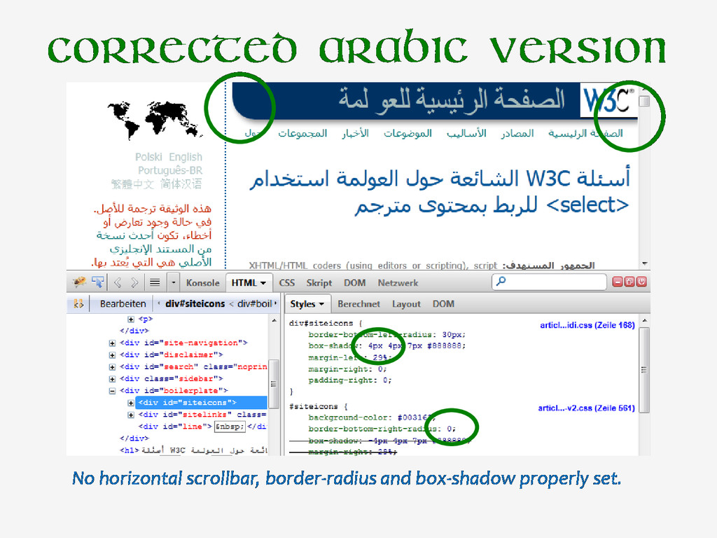 Corrected Arabic version No horizontal scrollba...