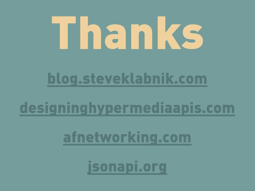 Thanks blog.steveklabnik.com designinghypermedi...