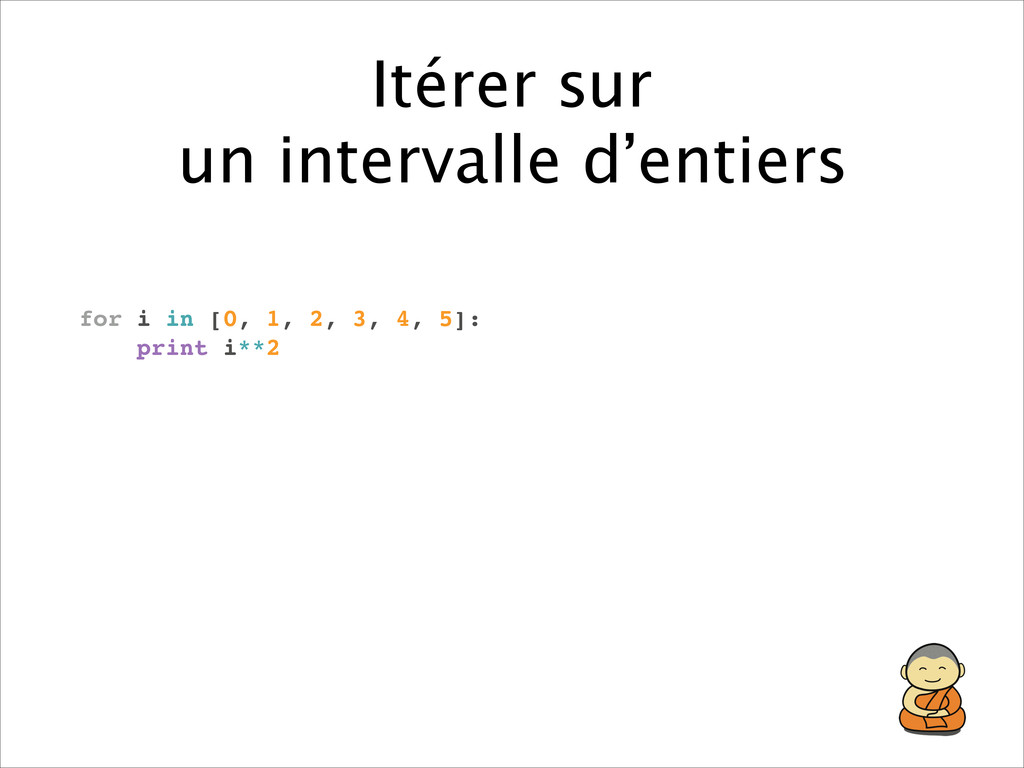 Itérer sur