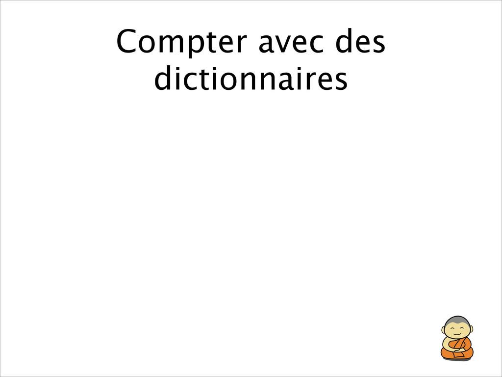 Compter avec des dictionnaires