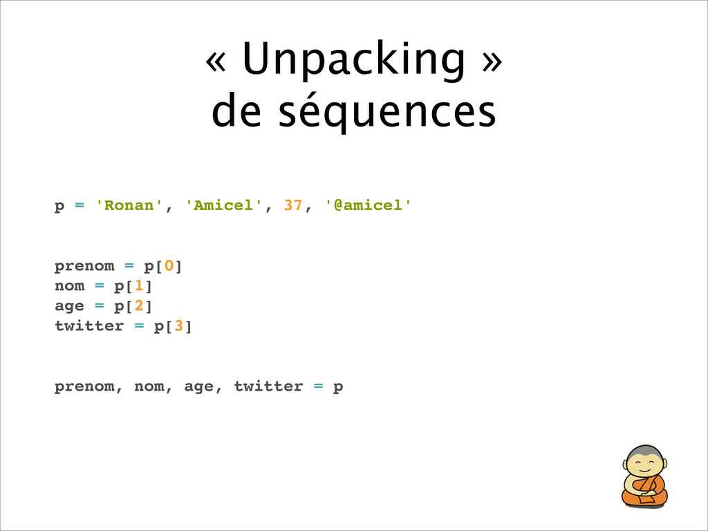 « Unpacking »