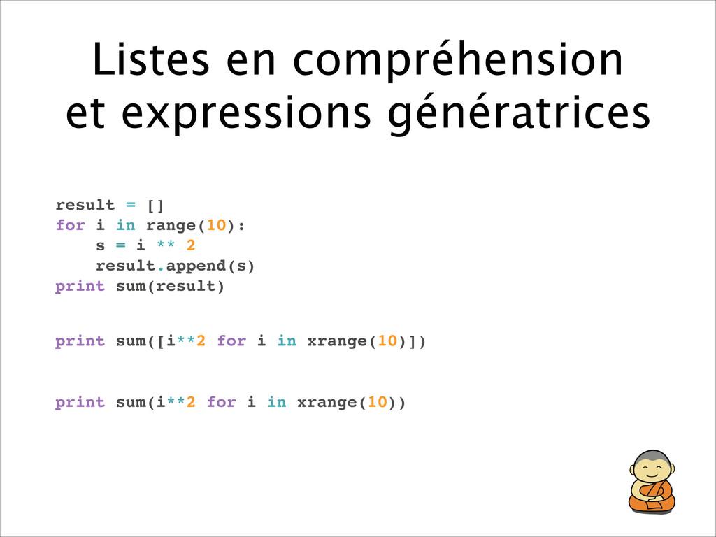 Listes en compréhension et expressions générat...