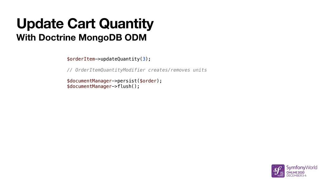 Update Cart Quantity With Doctrine MongoDB ODM ...