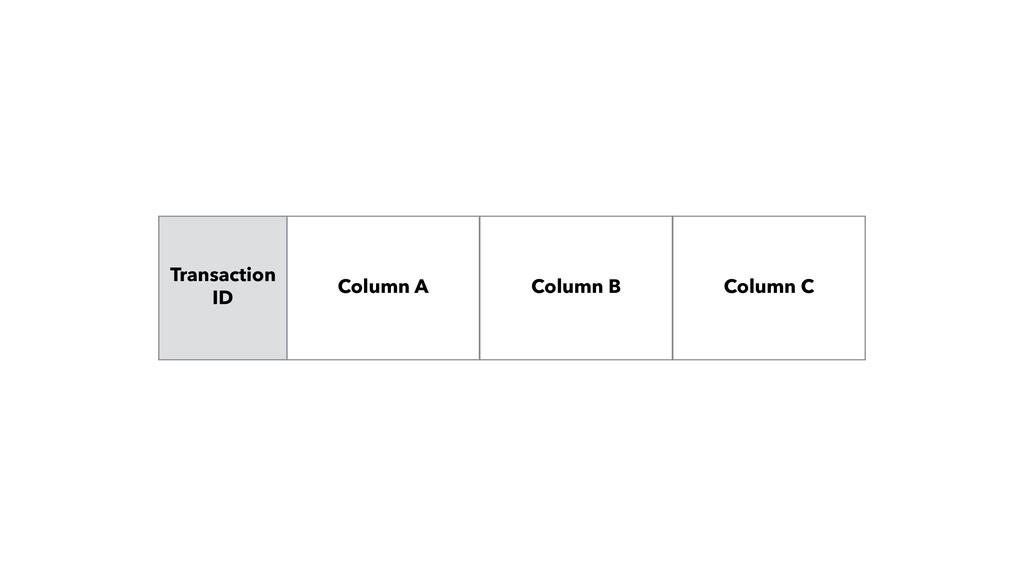Column B Column C Transaction ID Column A