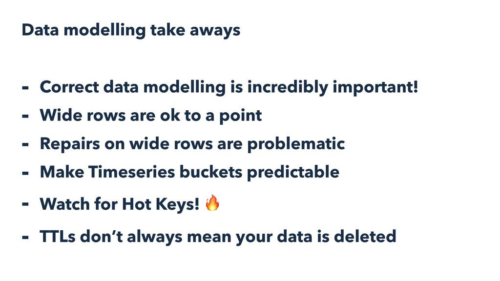 Data modelling take aways - Correct data modell...