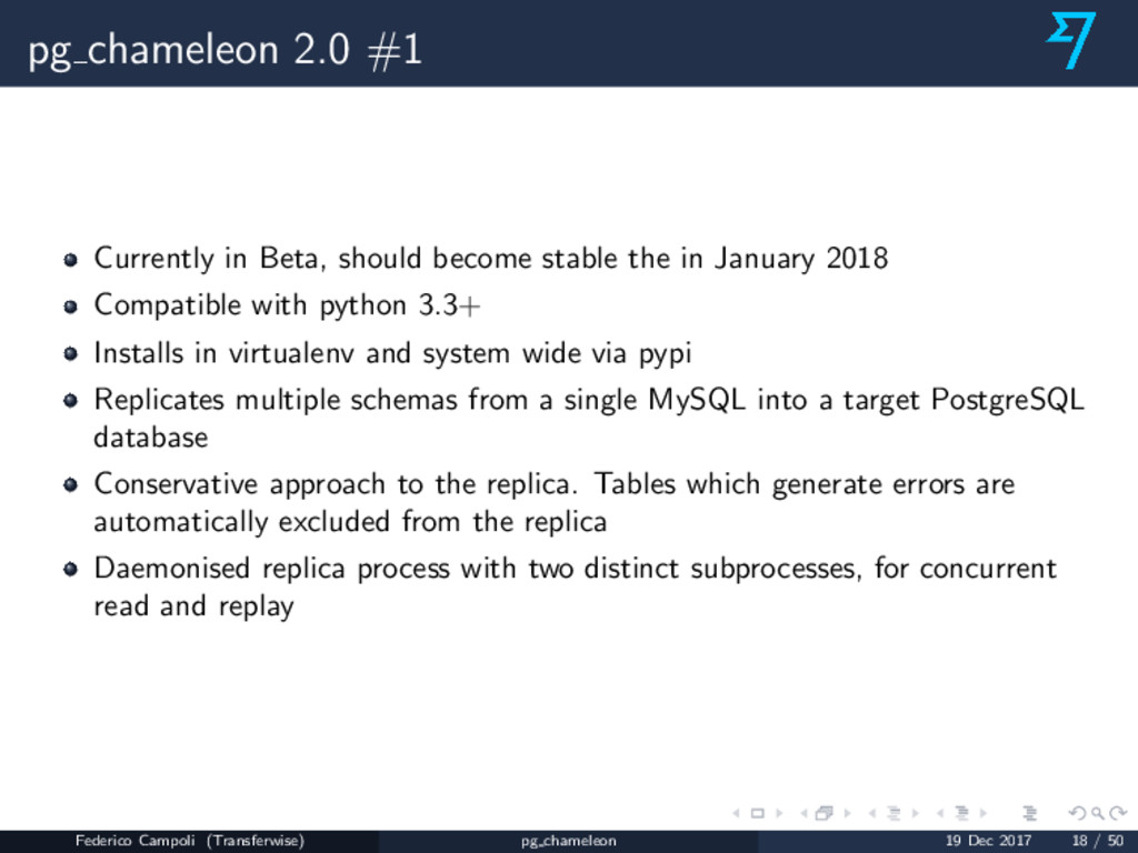 pg chameleon 2.0 #1 Currently in Beta, should b...
