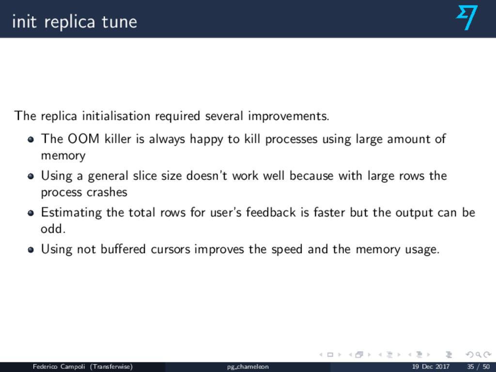 init replica tune The replica initialisation re...