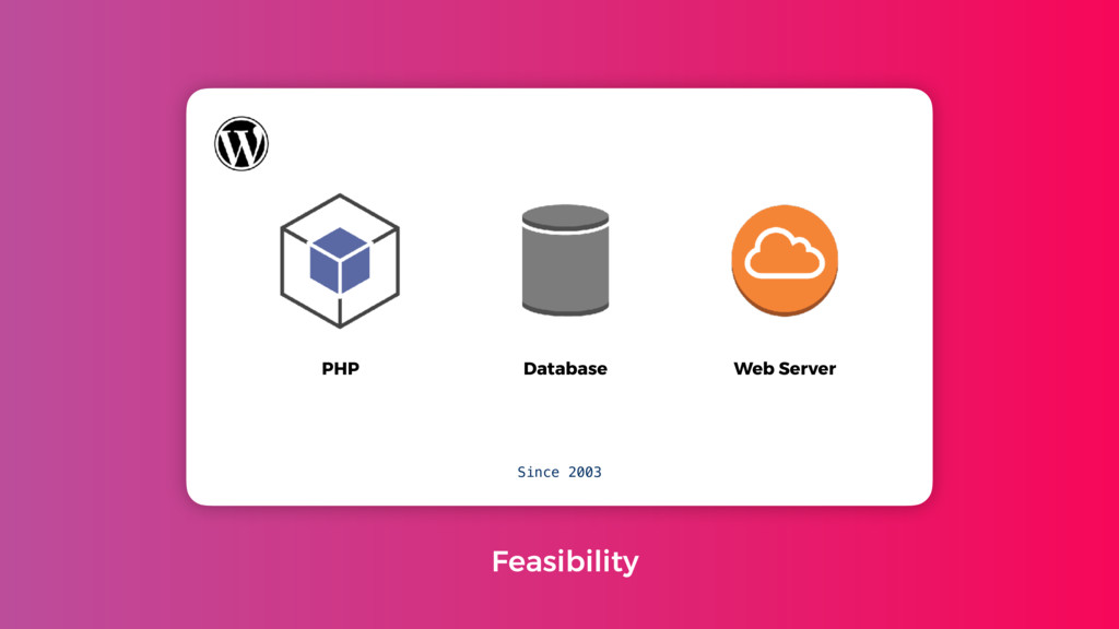 PHP Database Web Server Since 2003 Feasibility