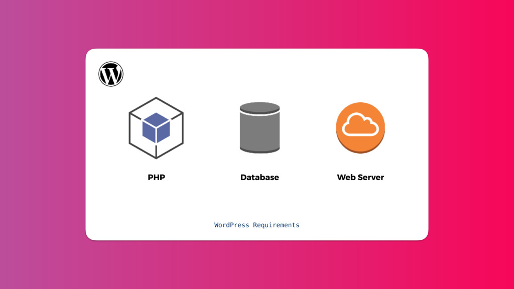 PHP Database Web Server WordPress Requirements