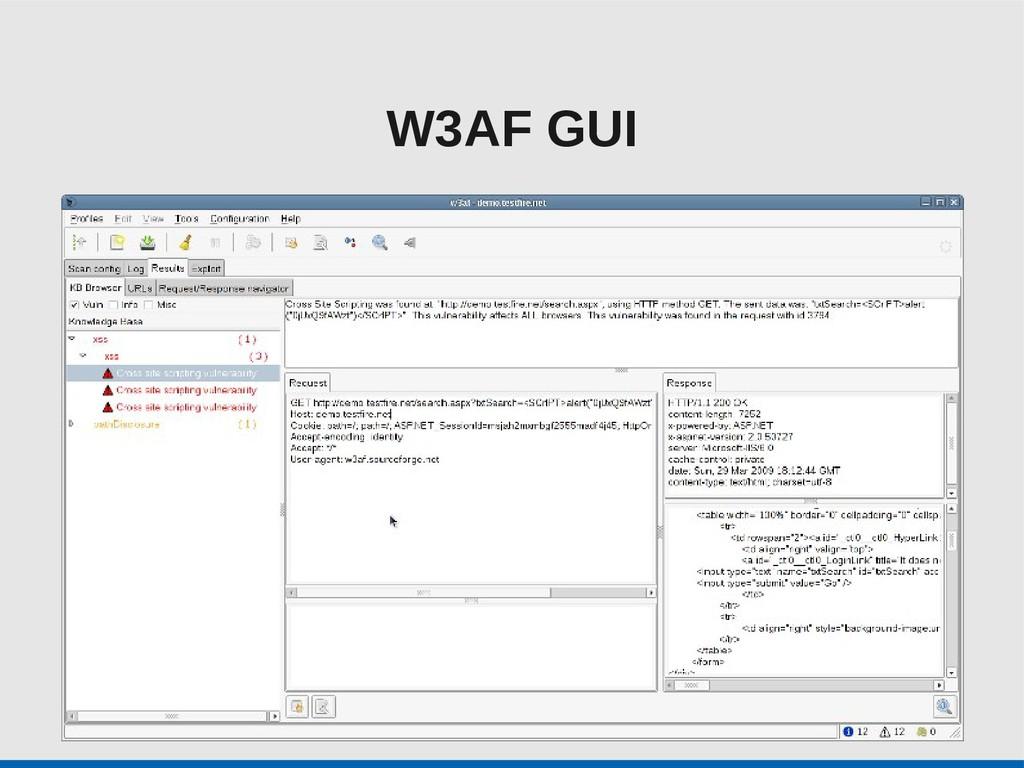 W3AF GUI