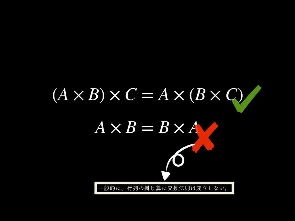 (A × B) × C = A × (B × C) A × B = B × A Ұൠతʹɺ...