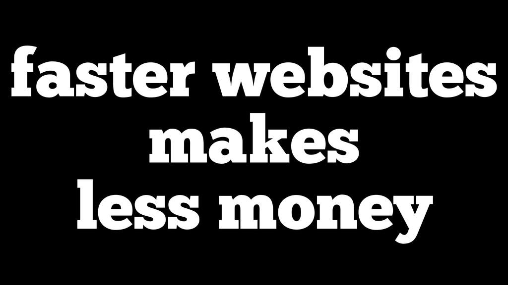faster websites makes less money