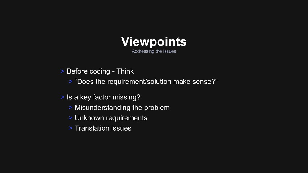 Addressing the Issues Viewpoints > Is a key fac...