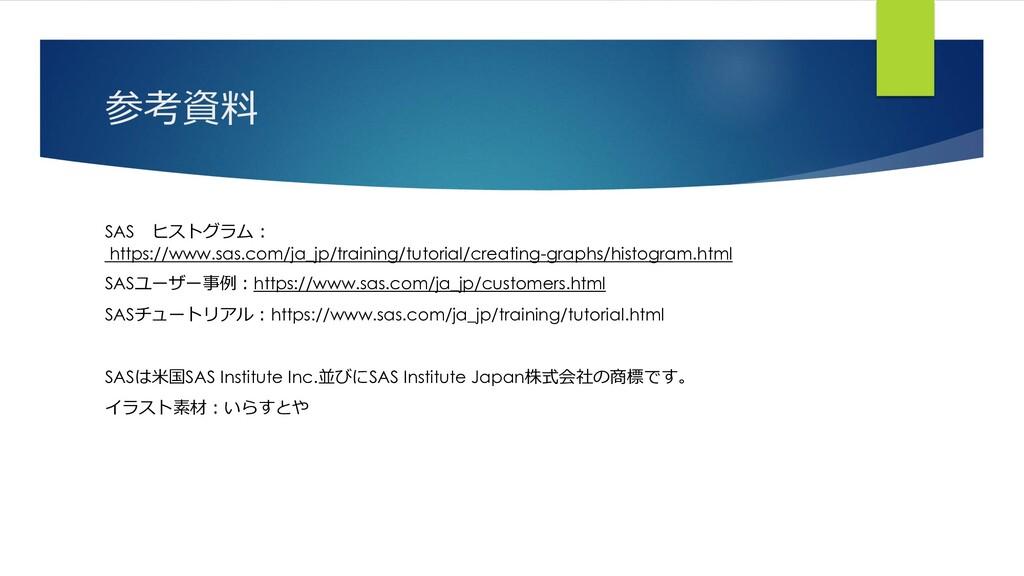 参考資料 SAS ヒストグラム: https://www.sas.com/ja_jp/trai...
