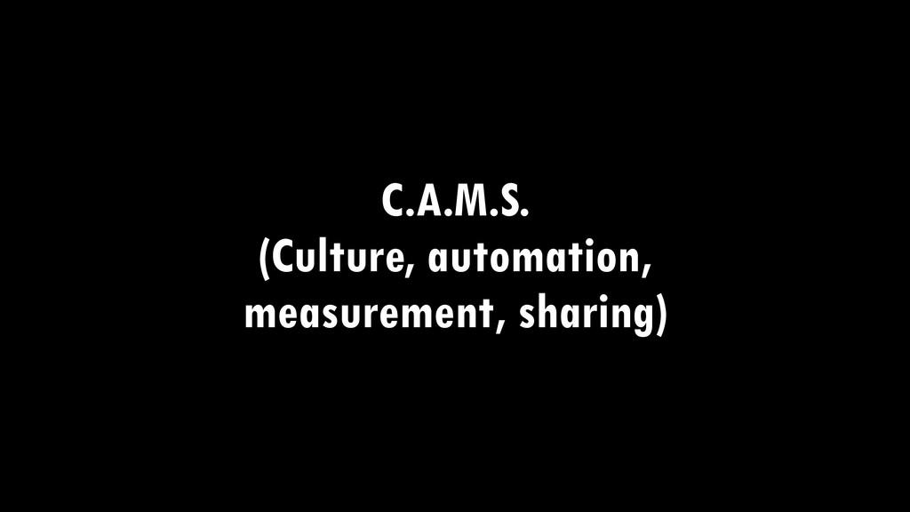 C.A.M.S. (Culture, automation, measurement, sha...