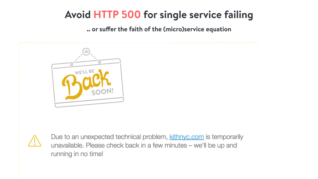 Avoid HTTP 500 for single service failing .. or...