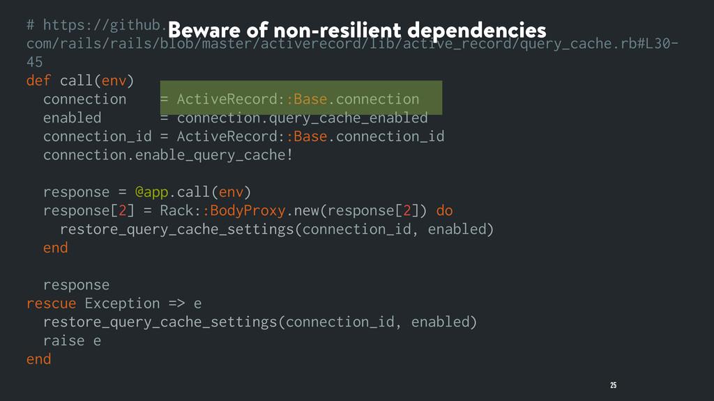 Beware of non-resilient dependencies 25 # https...