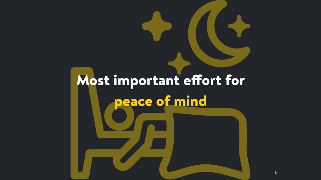 5 Most important effort for peace of mind