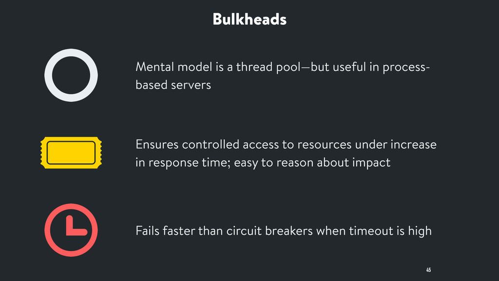 Bulkheads 45 Mental model is a thread pool—but ...
