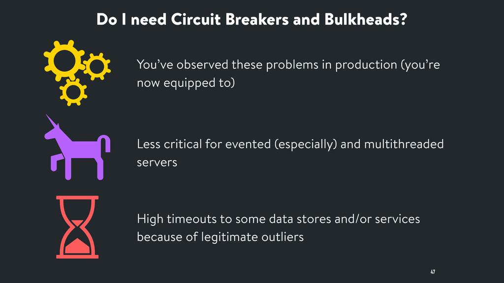 Do I need Circuit Breakers and Bulkheads? 47 Le...