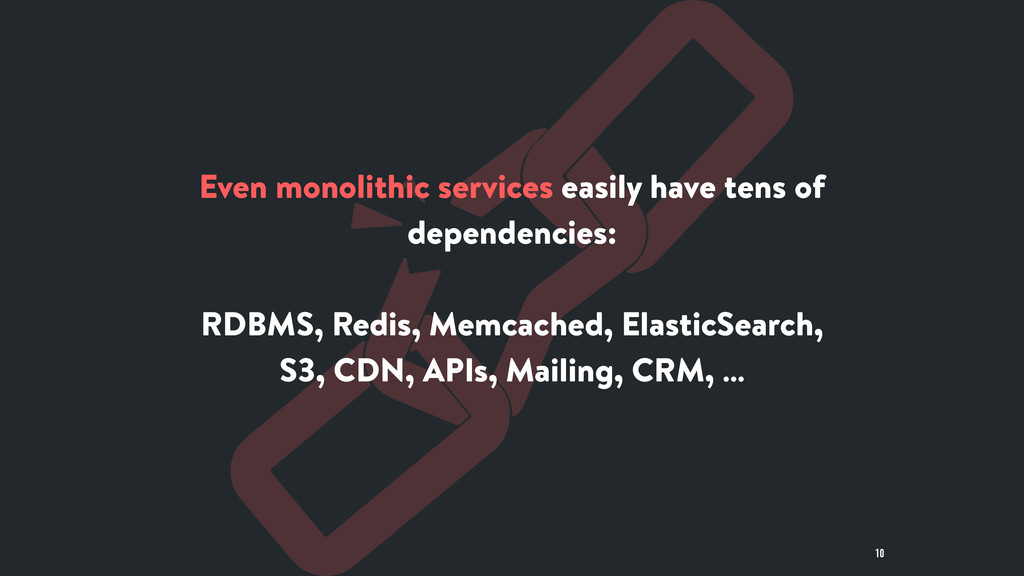 Even monolithic services easily have tens of de...
