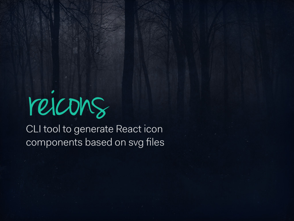 reicons CLI tool to generate React icon compone...