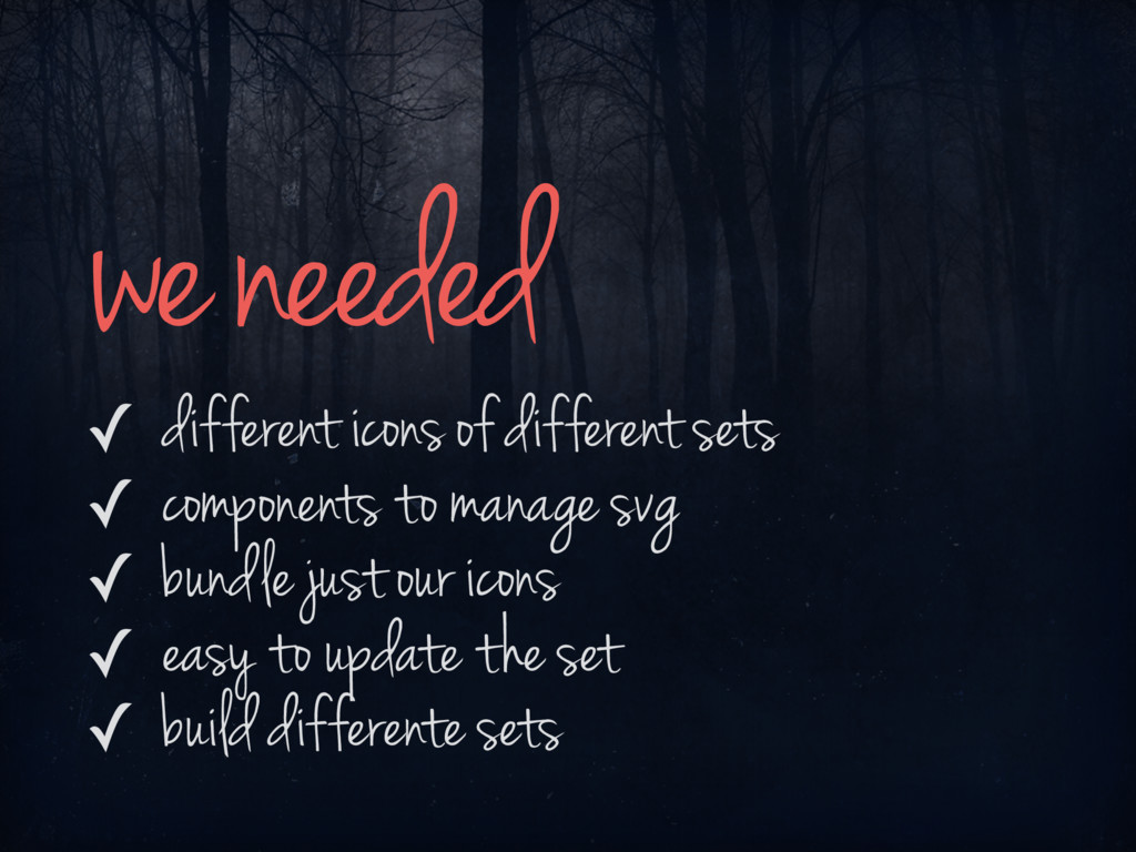 ✓ different icons of different sets ✓ component...