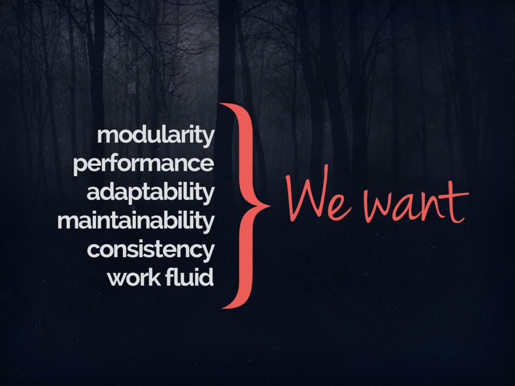 modularity performance adaptability maintainabi...