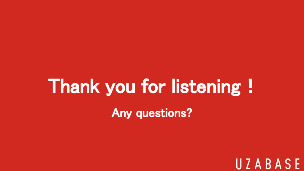 Any questions? Thank you for listening!