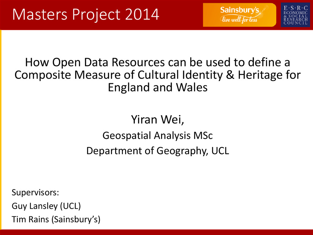 Masters Project 2014 How Open Data Resources ca...
