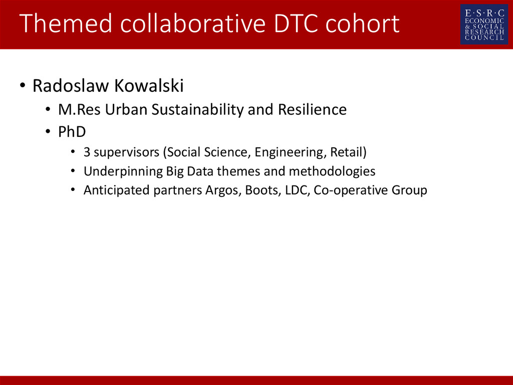 Themed collaborative DTC cohort • Radoslaw Kowa...
