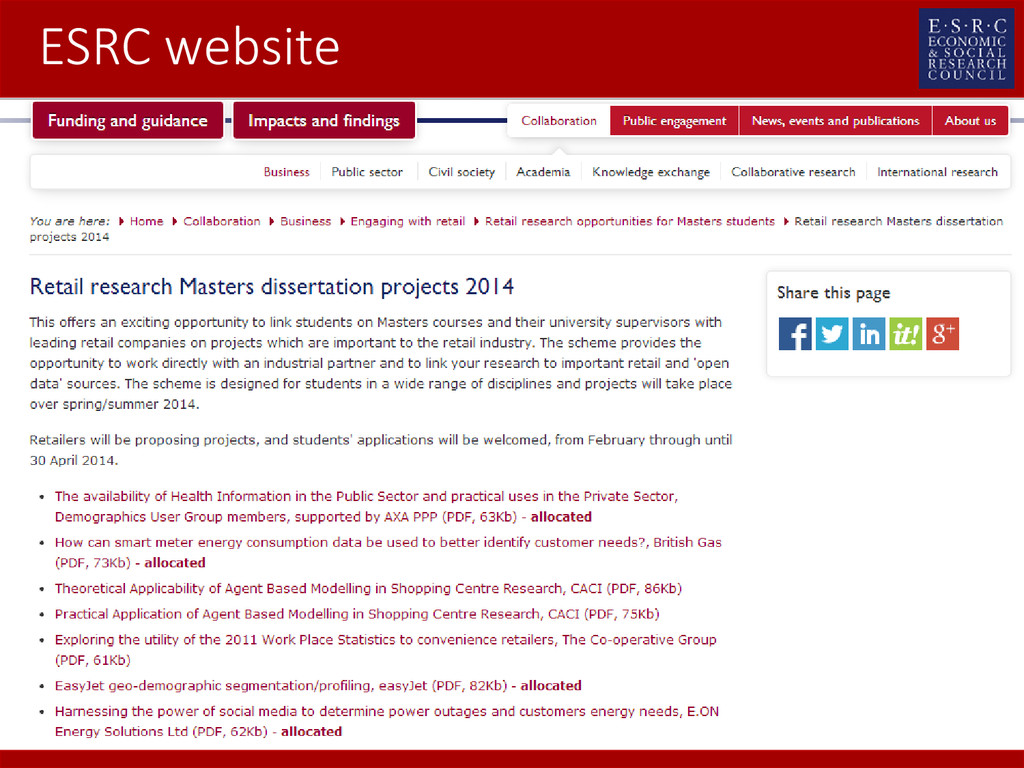 ESRC website