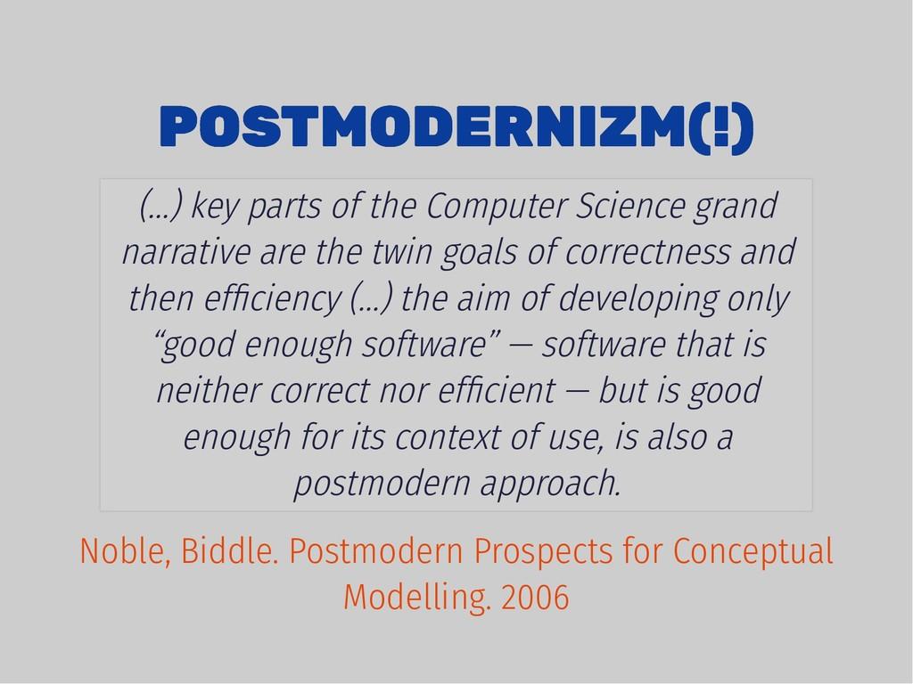 POSTMODERNIZM(!) POSTMODERNIZM(!) (...) key par...