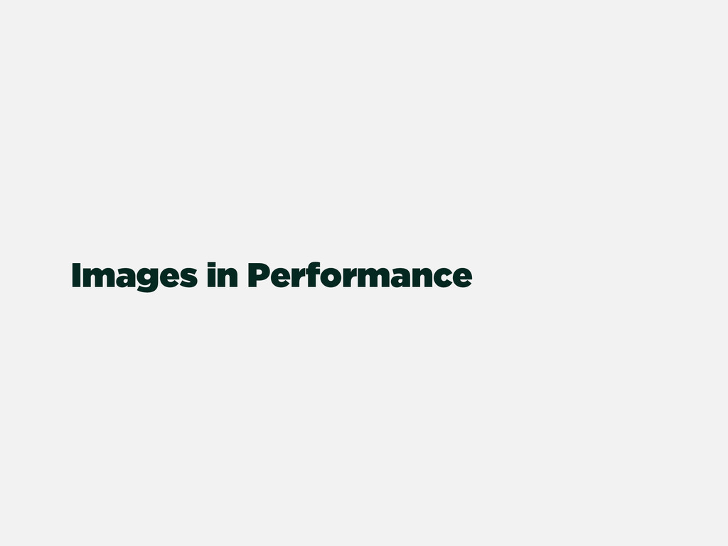 Images in Performance